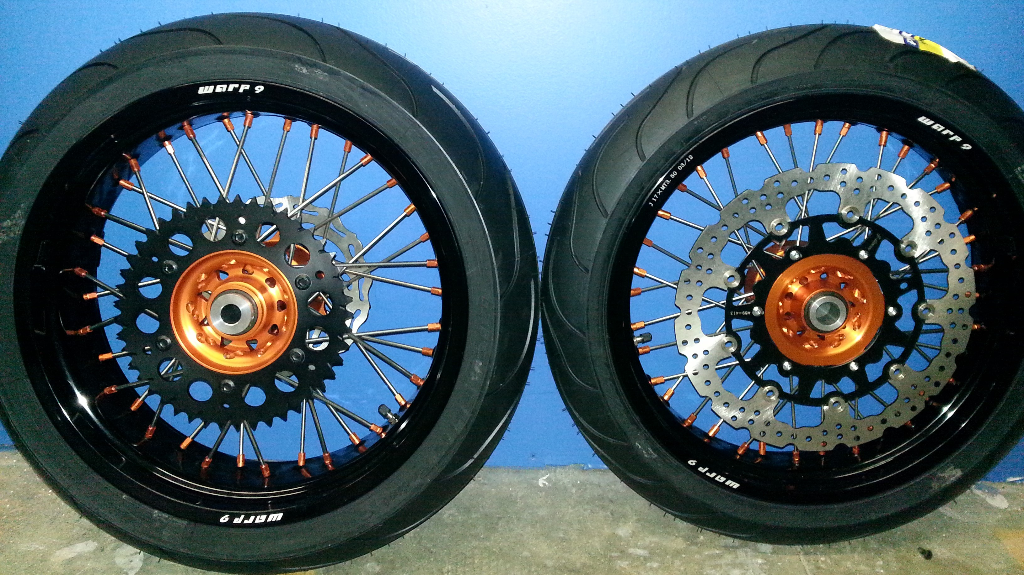 Supermoto Conversion Kit, Supermoto Wheels and Tires